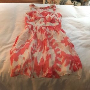 Shoshanna size 6 coral dress silk